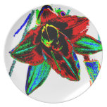 Singularidad floral platos para fiestas