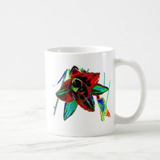 Singularidad floral tazas de café