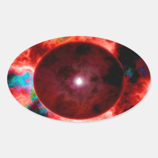 Singularity Oval Sticker