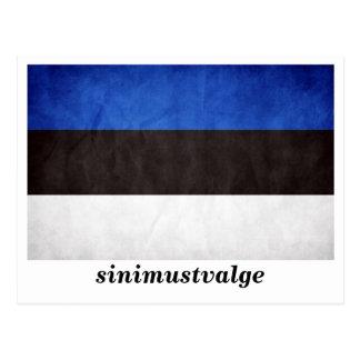 """""""sinimustvalge"""" Estonia Flag Postcard"""