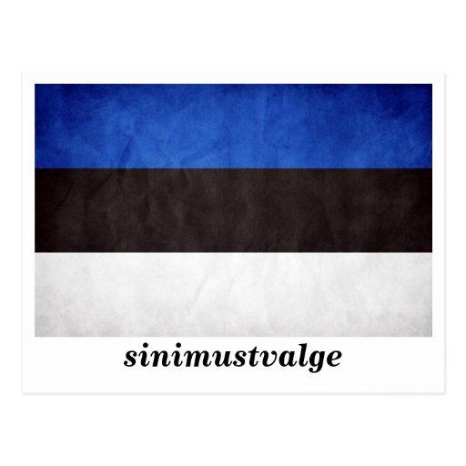 """""""sinimustvalge"""" Estonia Flag Post Cards"""