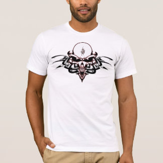 Sinister Alien Skull with Tribal Markings T-Shirt
