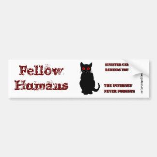 Sinister Cat Bumper Sticker