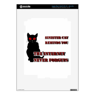 Sinister Cat iPad 3 Decal