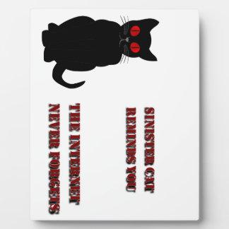 Sinister Cat Plaque