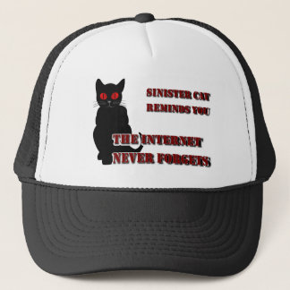 Sinister Cat Reminds You Trucker Hat