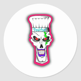 Sinister Clown Classic Round Sticker