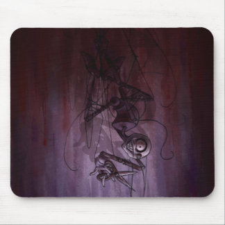 Sinister Descent, Creepy Puppet Cutting Strings Mousepads