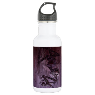 Sinister Descent, Creepy Puppet Cutting Strings 18oz Water Bottle