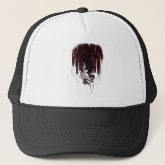 Sinister Descent, Creepy Puppet Cutting Strings Trucker Hat