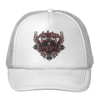 Sinister Gothic Angel With Wings Trucker Hat
