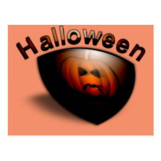 Sinister Halloween Pumpkin Postcard
