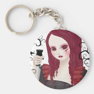 Sinister Scarlet White Keychain
