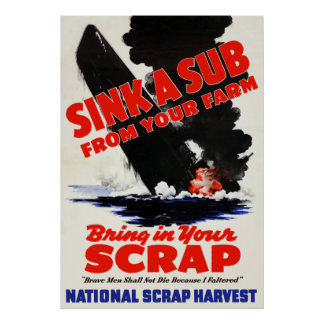 Sink A Sub From Your Farm Posters