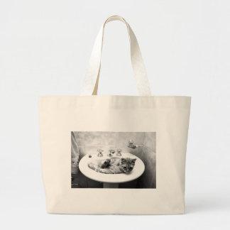 sink_cats_12 acaricia cuteness adorable de los ani bolsa de mano