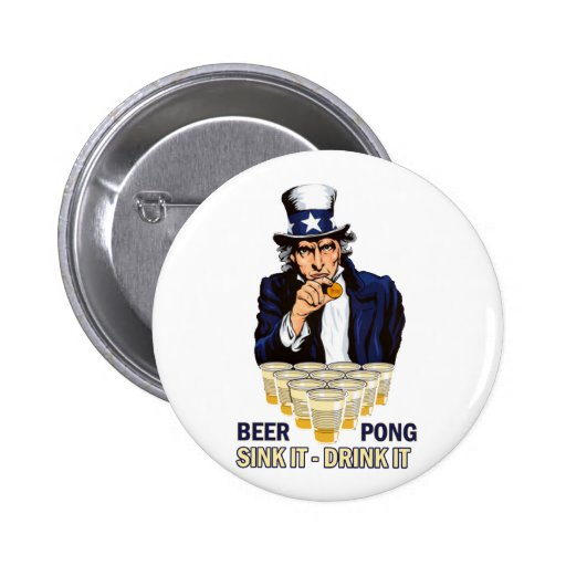 Sink it Drink it Abe Lincoln Button