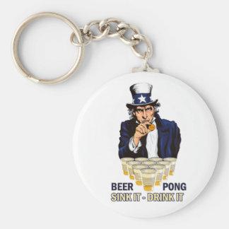 Sink it Drink it Abe Lincoln Keychains