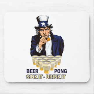 Sink it Drink it Abe Lincoln Mouse Pad