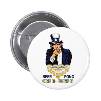 Sink it Drink it Abe Lincoln Pinback Button
