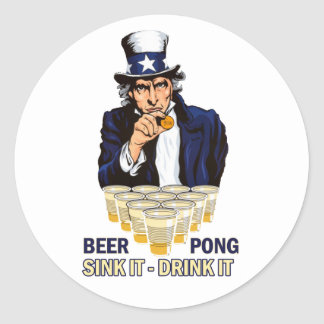 Sink it Drink it Abe Lincoln Sticker