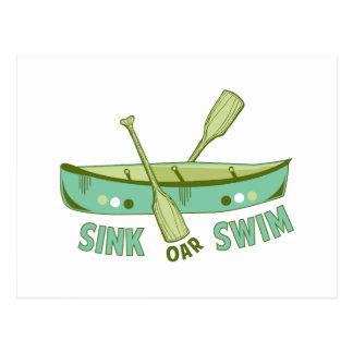 Sink Oar Swim Postcard