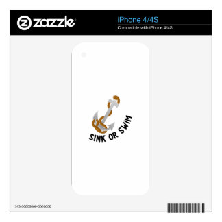 Sink Or Swim Decals For The iPhone 4S