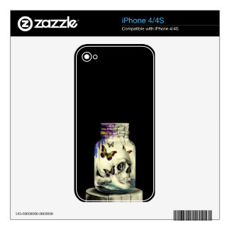 Sink or swim, nautical skull iPhone 4S decal