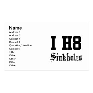 sinkholes business card