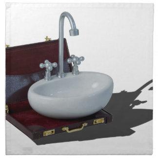 SinkInBriefcase011815 Cloth Napkin