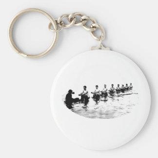 Sinking 8 Man Crew Rower Basic Round Button Keychain