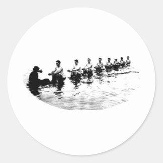 Sinking 8 Man Crew Rower Sticker