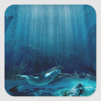 Sinking Atlantis  Square Sticker