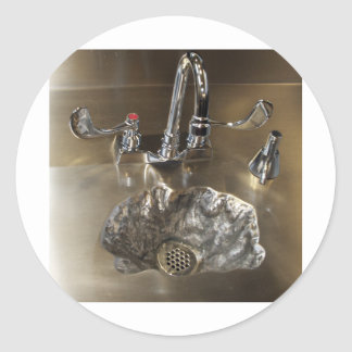 Sinking Feeling, Art Sink Crater Classic Round Sticker