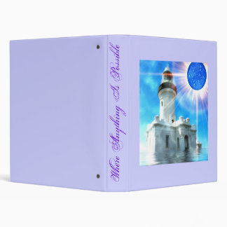 Sinking Lighthouse 3 Ring Binder