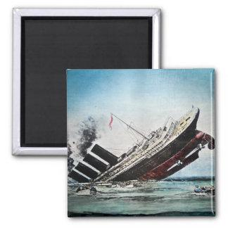 Sinking of the Titanic Magic Lantern Slide Magnet