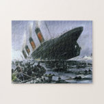 """Sinking RMS Titanic Jigsaw Puzzle<br><div class=""""desc"""">Another historical Titanic puzzle,  painted by the German artist Willy St&#246;wer.</div>"""