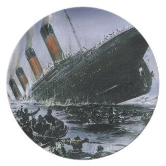 Sinking RMS Titanic Melamine Plate