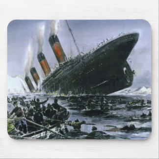 Sinking RMS Titanic Mouse Pad