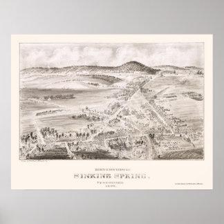 Sinking Spring, PA Panoramic Map - 1898 Poster