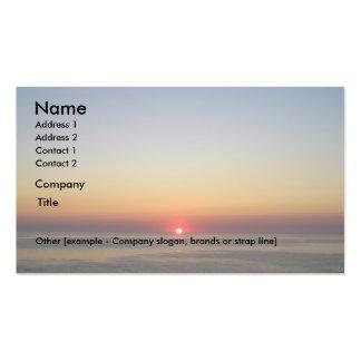 Sinking Sun Business Card Template