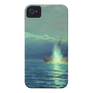 Sinking the Turkish steamer 'Intibach' by boats Case-Mate iPhone 4 Case