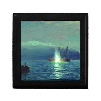 Sinking the Turkish steamer 'Intibach' by boats Jewelry Box