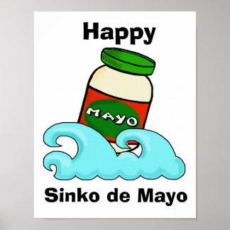 Sinko de Mayo Funny  Cinco de Mayo Poster