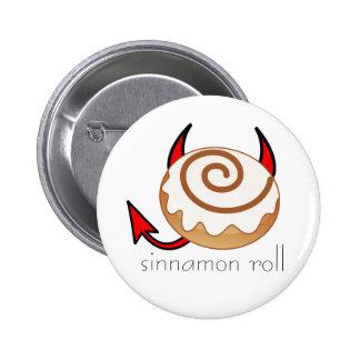 sinnamon roll pinback button