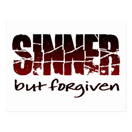Sinner but forgiven postcard