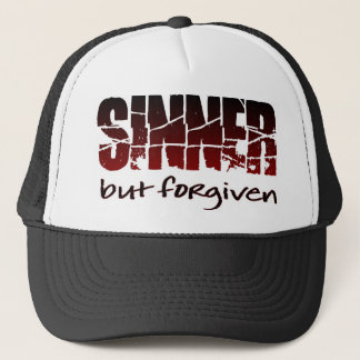Sinner but forgiven trucker hat