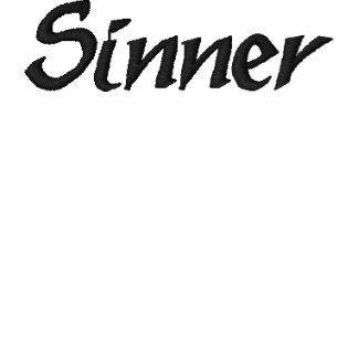Sinner Embroidered White TShirt