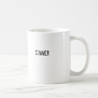 sinner classic white coffee mug