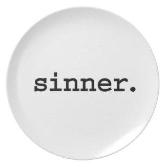 sinner. plate