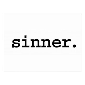 sinner. postcard